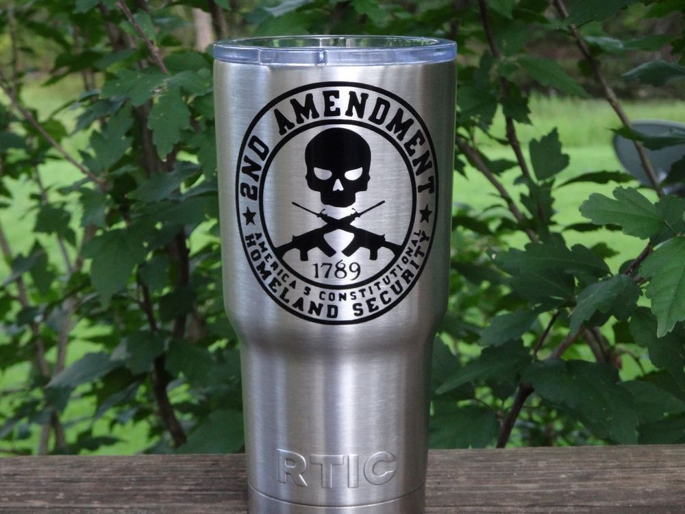 Custom Second Amendment Vinyl Decal For Yeti Rambler RTIC Ozark - Custom vinyl decals for cups