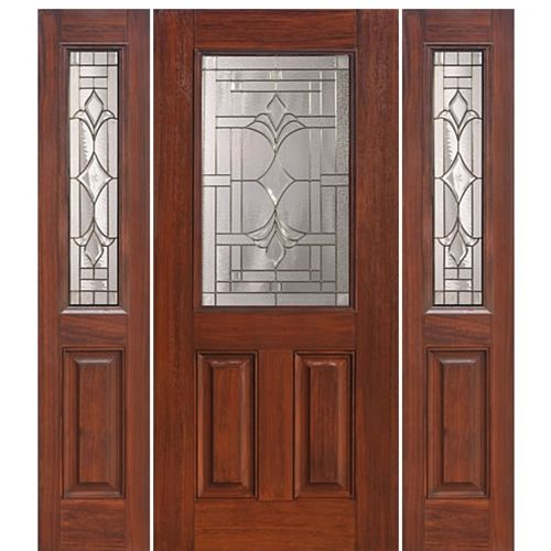 Glasscraft C 1 2 Lite Marsala 1 2 Walnut Doors Sandblasted Glass Design Stained Glass Door