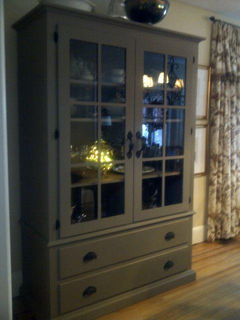 Annie Sloan chalk paint.....color coco transformed a plain armoire ...