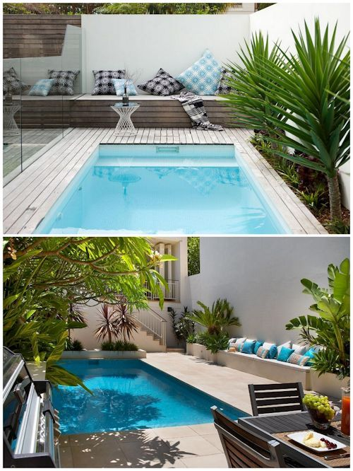 piscinas en patios pequeños - Buscar con Google Jardins e Quintal