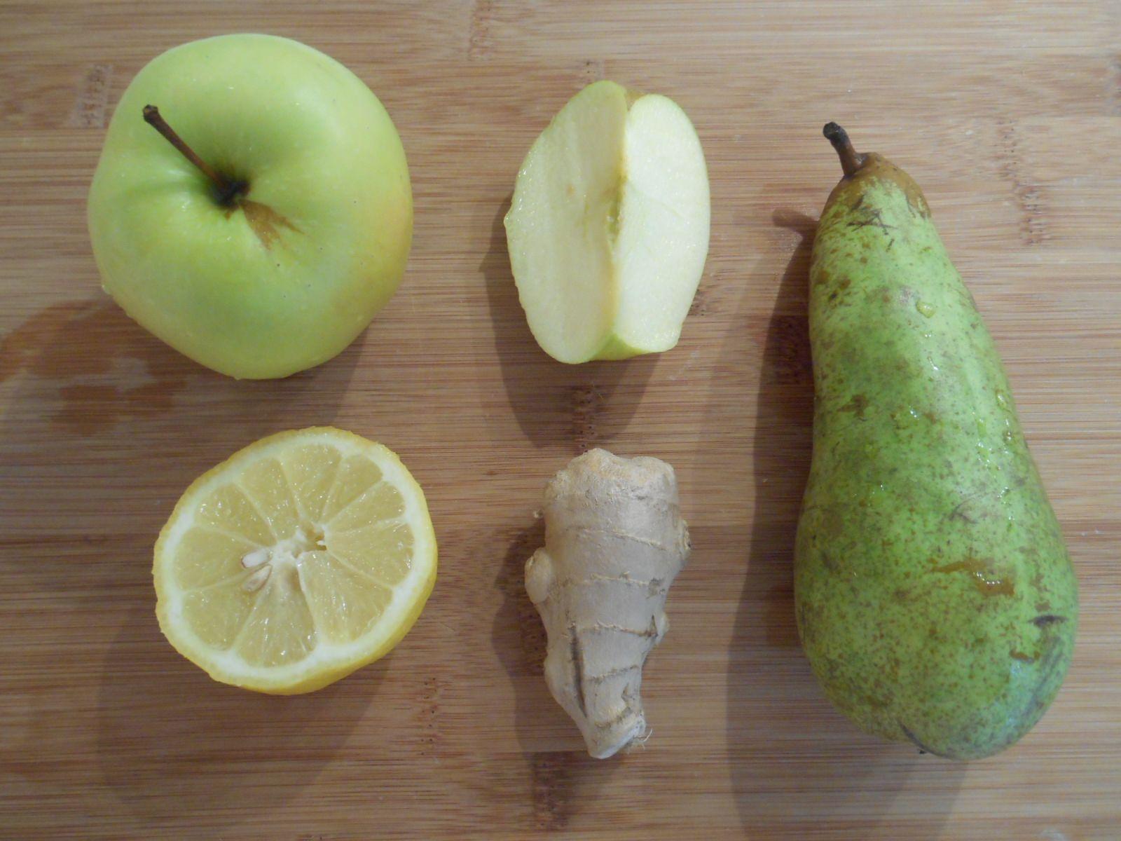jus-pomme-poire-citron-gingembre   boissons   Pinterest