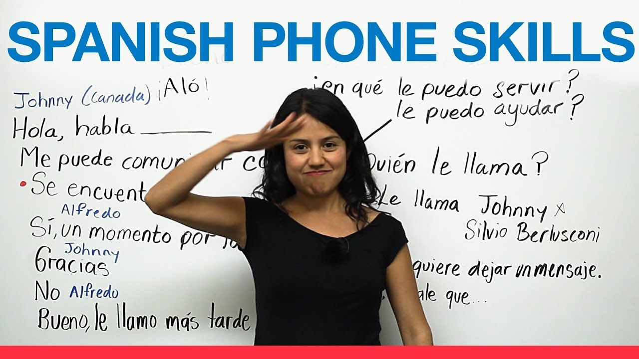 Phone conversations in Spanish (With images) Learning
