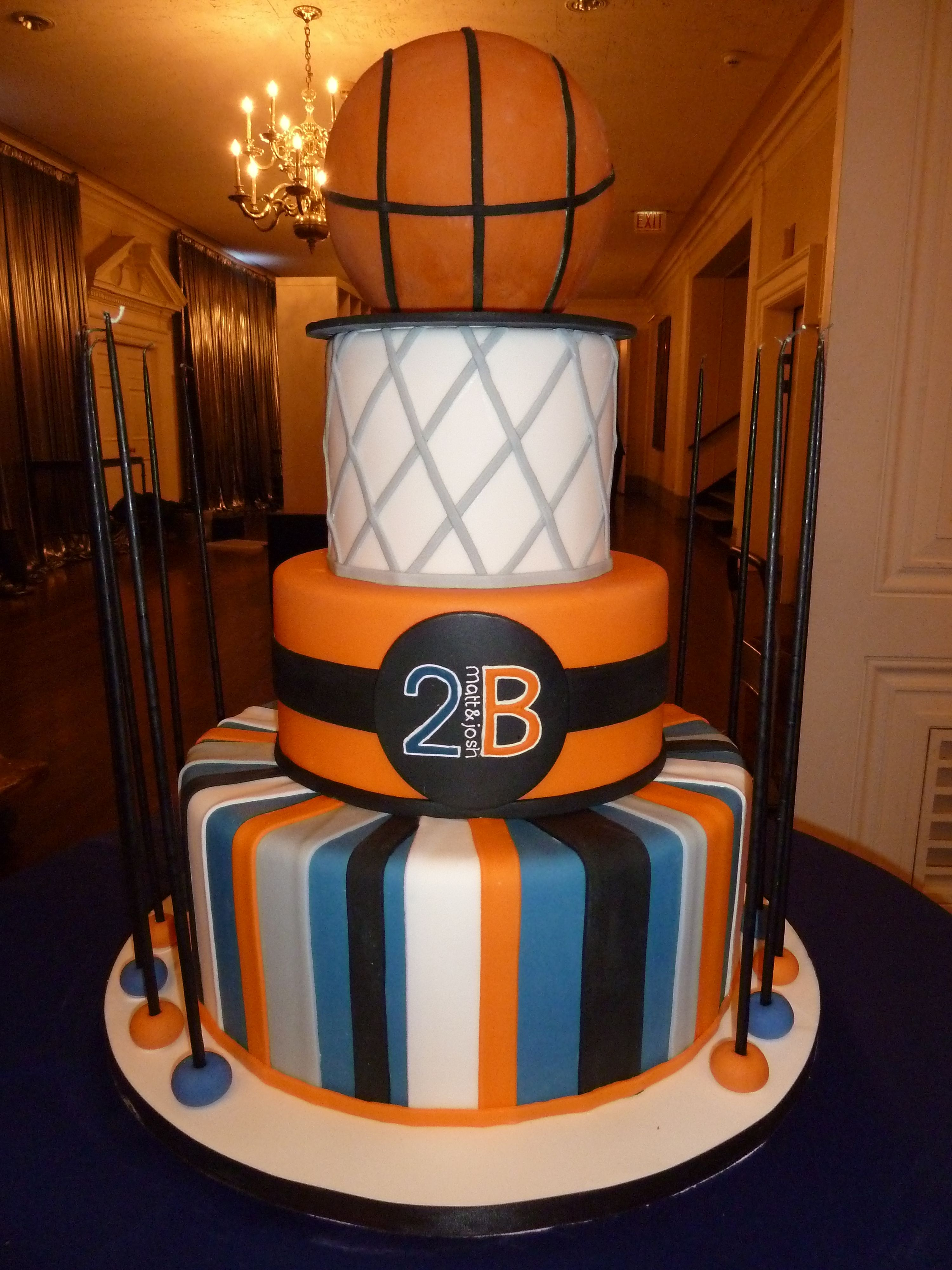 Basketball birthday cake amy beck cake design chicago