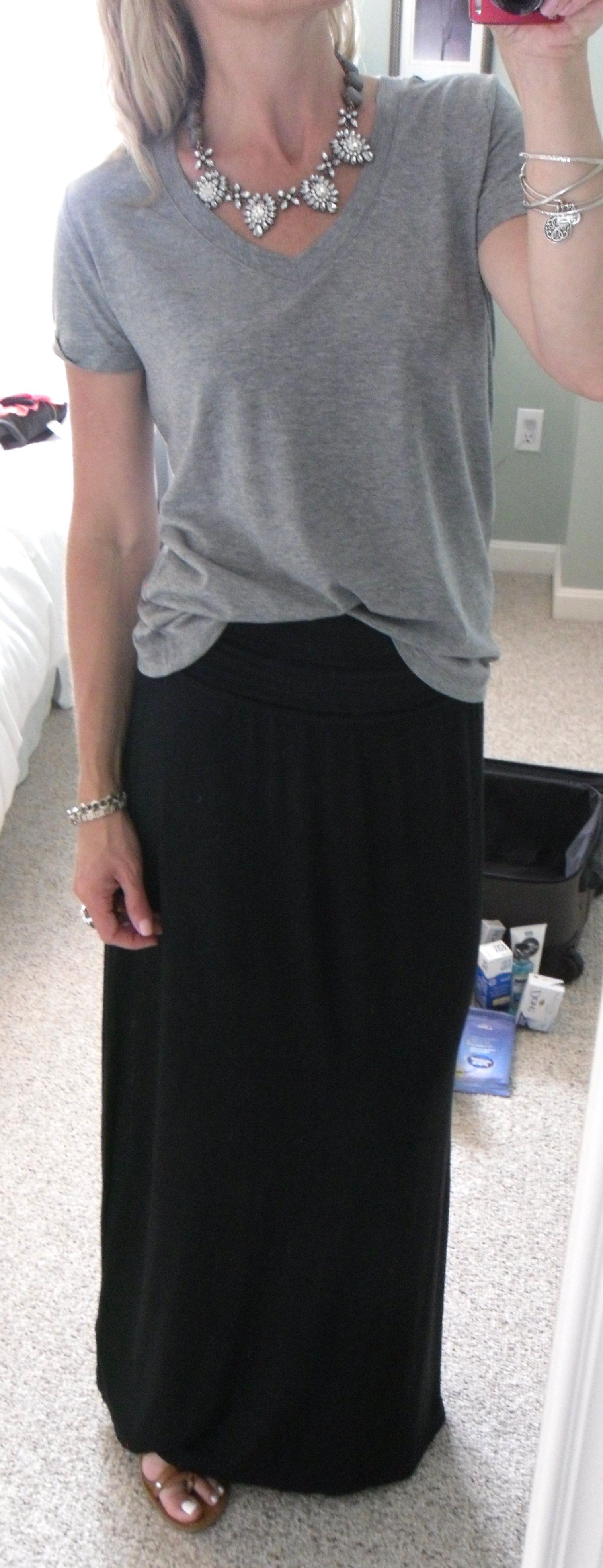 Black t shirt old navy - Old Navy Black Convertible Maxi Skirt Converts To Maxi Dress F21 Gray Heather