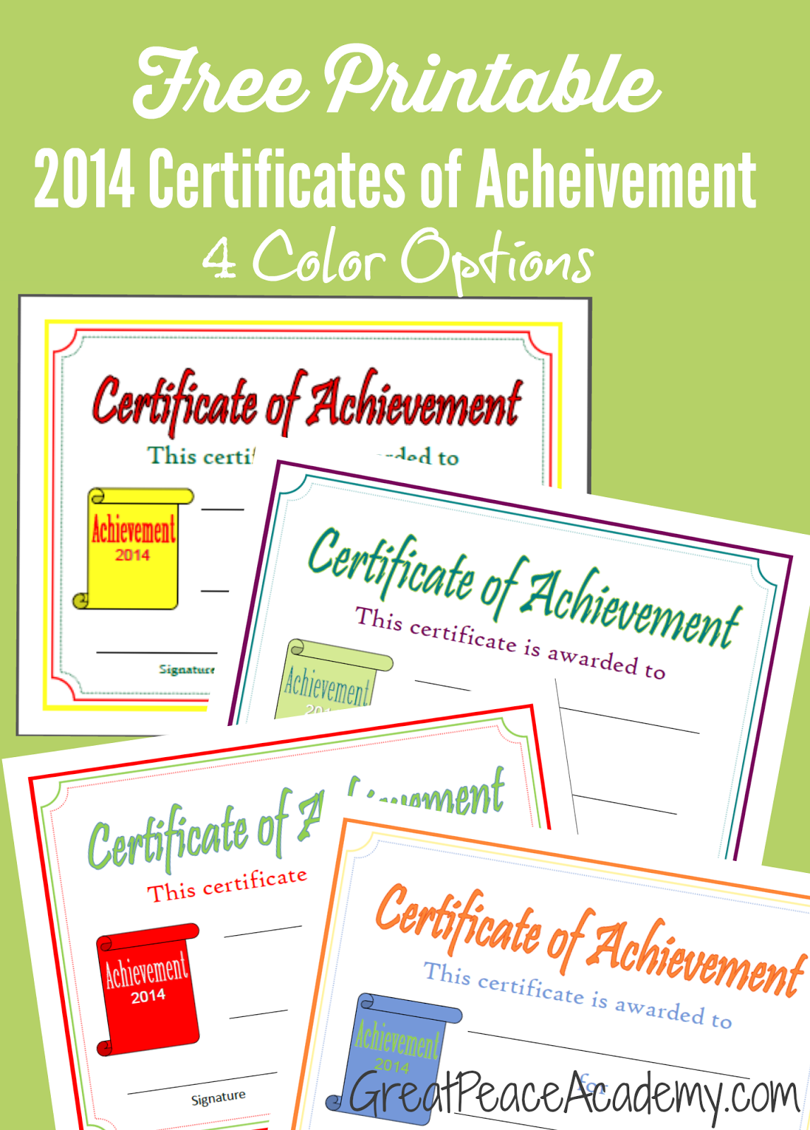 Homeschool Award Printable Certificates  Certificate Free