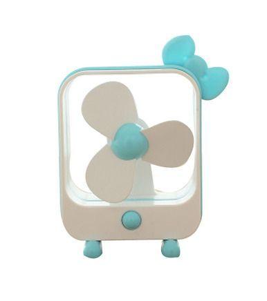 Lovely Blue Bow Modeling Mini Desktop USB Fan