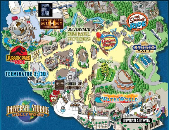 Disney Los Angeles Map.Universal Map Maps In 2019 Universal Hollywood Universal
