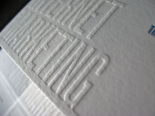 A Knockout Business Card Dolce Press Embossed Business Cards Letterpress Stationery Cards