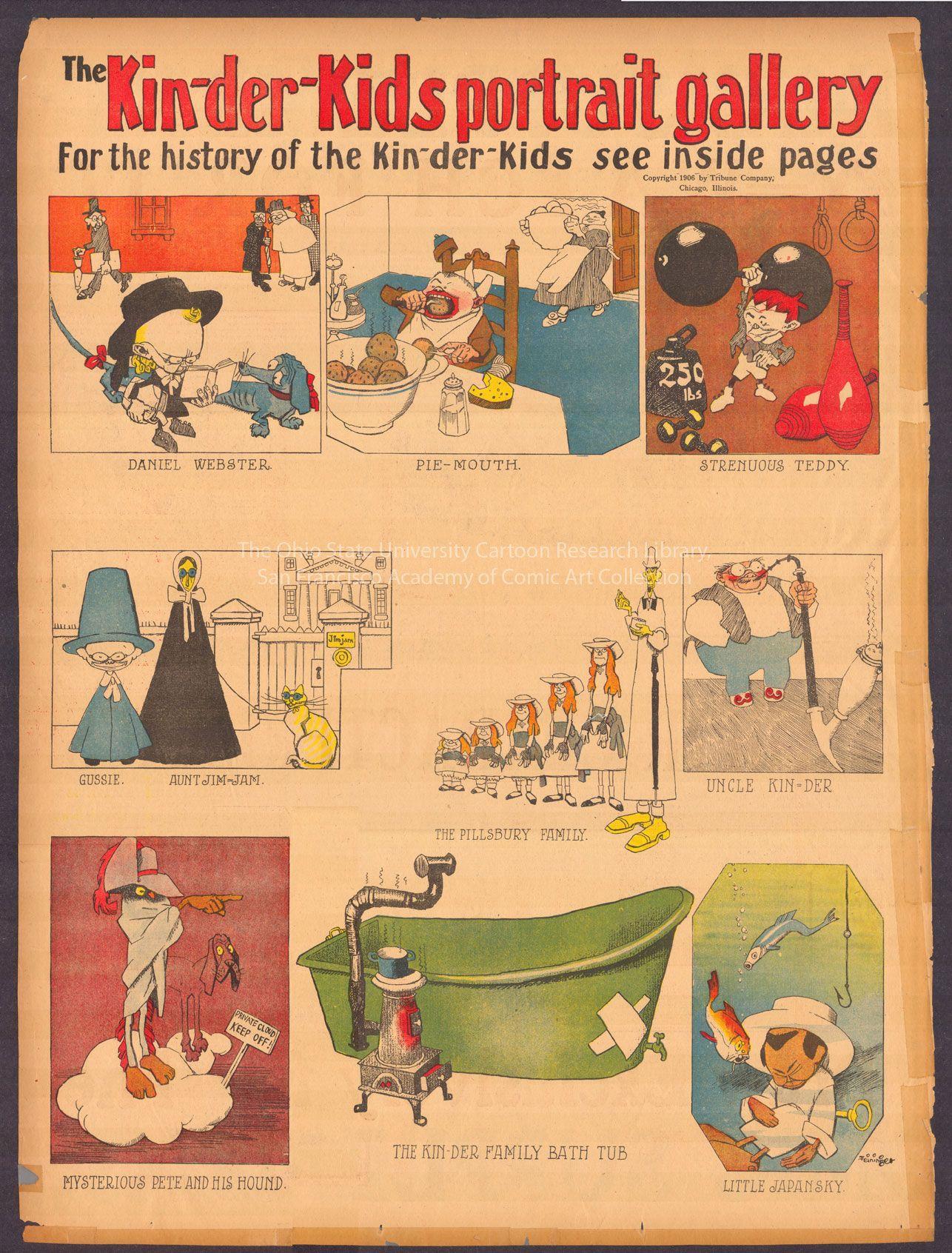 Feininger The Kin Der Kids Vintage Comics Comic Pictures