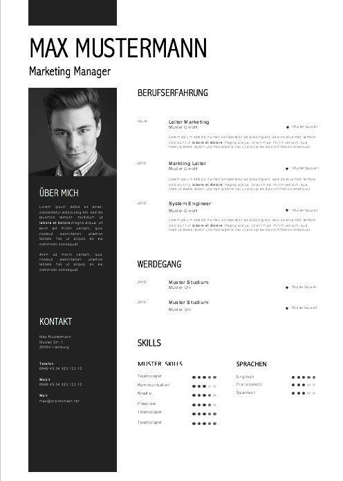 Muster Lebenslauf 2017 Resume Design Resume Design Free Resume Design Template