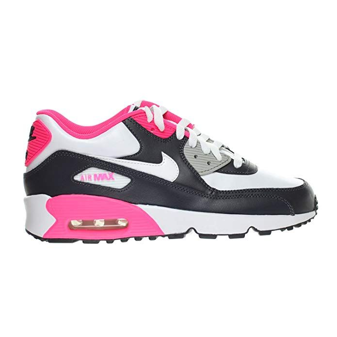 new concept 16af0 21534 Nike Air Max 90 LTR (GS) Big Kid s Shoes Anthracite White Hyper