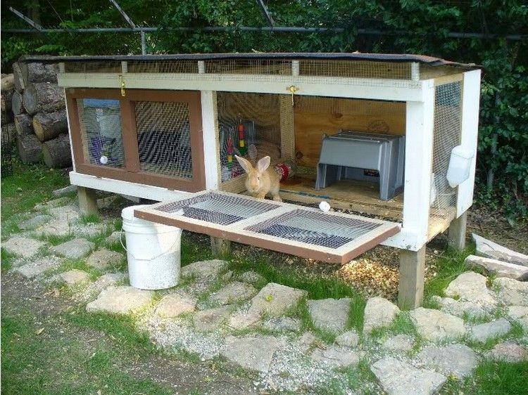 Pin On Diy Rabbit Hutch Outdoor