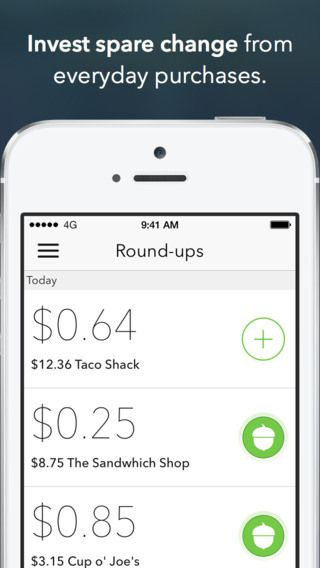 Acorns, An App for Easily Investing Spare Change Into a