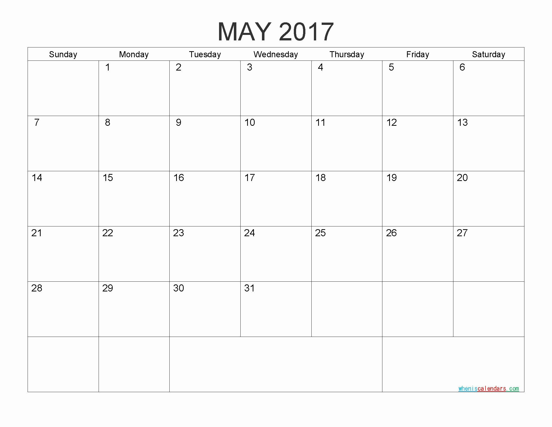 25 Monthly Calendar Template In