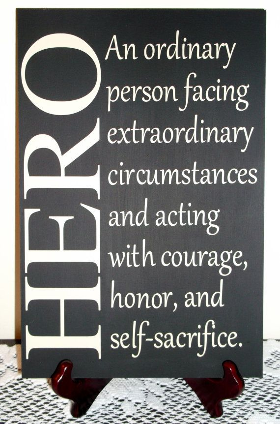Hero Quotes Pleasing Hero Sign Great For Military Firefighterafwifecreations $20.00 . Inspiration Design