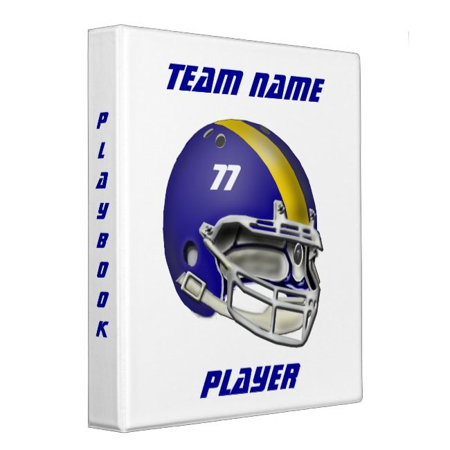 Royal Blue And Yellow Football Helmet Binder