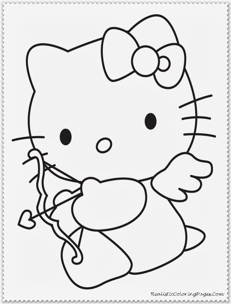 Valentine cupid coloring pages for kids printable valentines