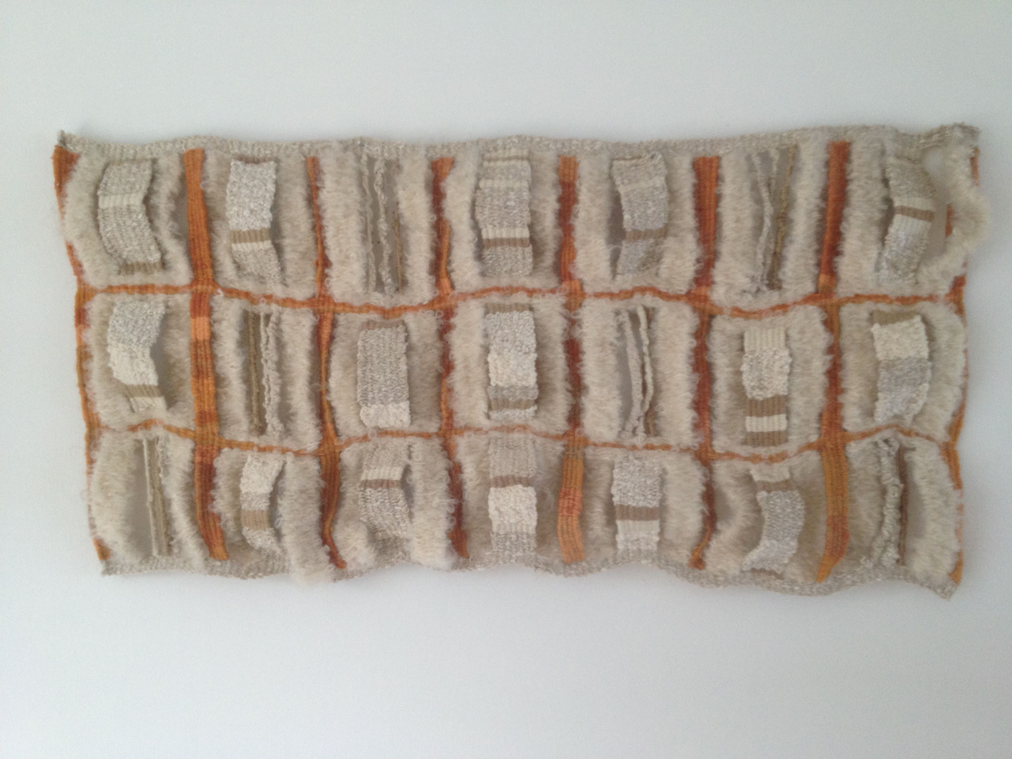 Tapestry weaving inspired by a Japanese basket.