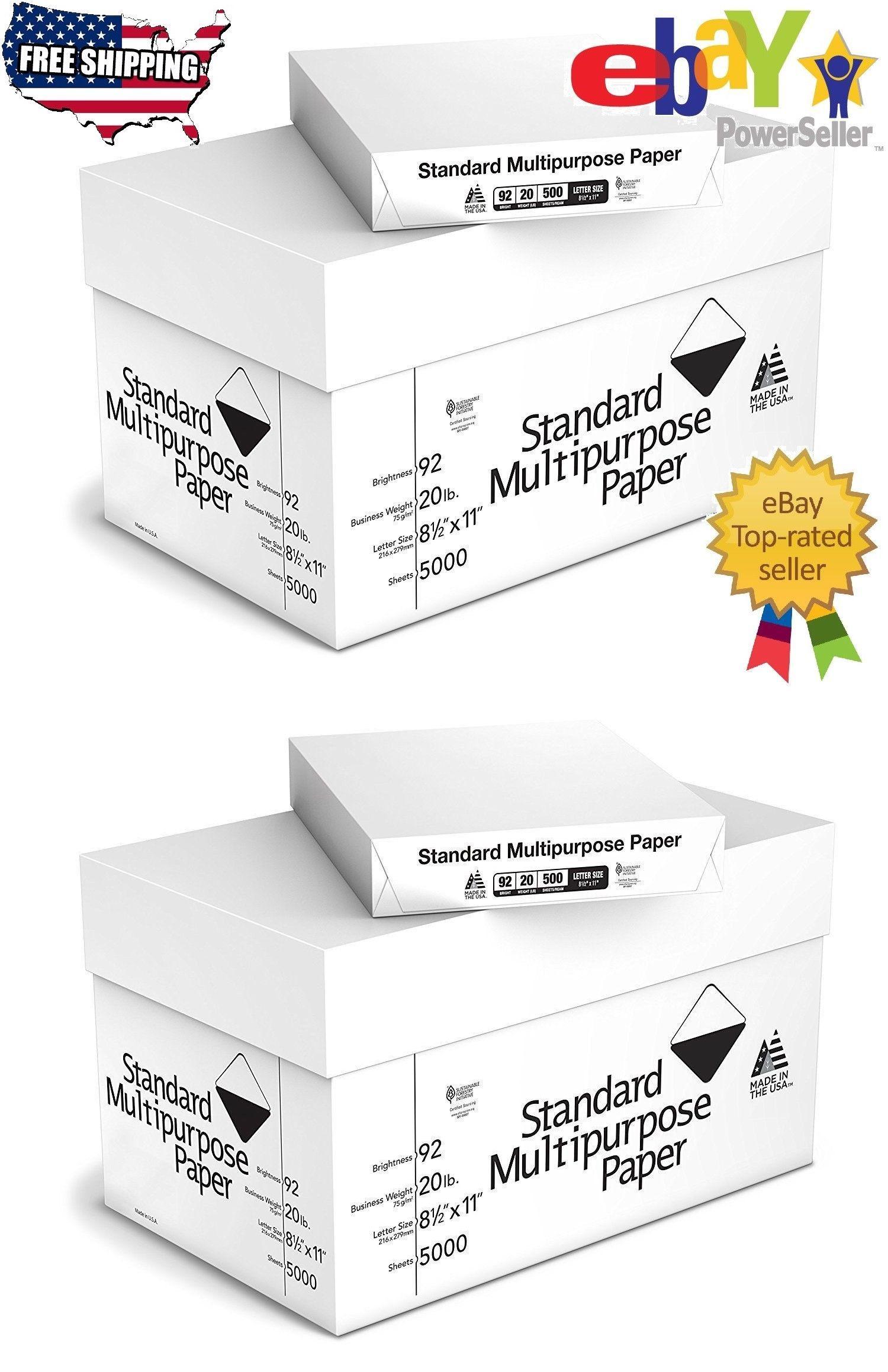 5000 Sheets Multipurpose Printer Copy Paper White 8 1 2 X 11 10 Reams Case Ebay Copy Paper Printer Paper Printer