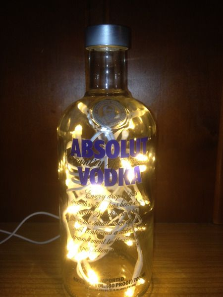 absolut vodka flasche led beleuchtet von taunus bottles auf taunus bottles. Black Bedroom Furniture Sets. Home Design Ideas