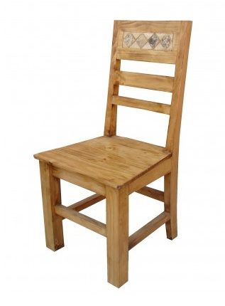 Arizona Marble And Pine Rustic Dining Chair Mexican