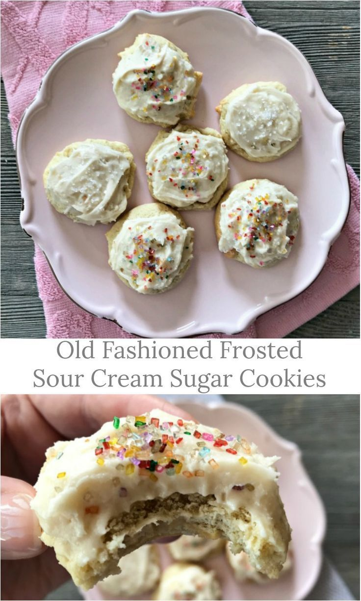 Old Fashioned Frosted Sour Cream Sugar Cookies Recipe Sour Cream Sugar Cookies Sugar Cookies Sour Cream Cookies