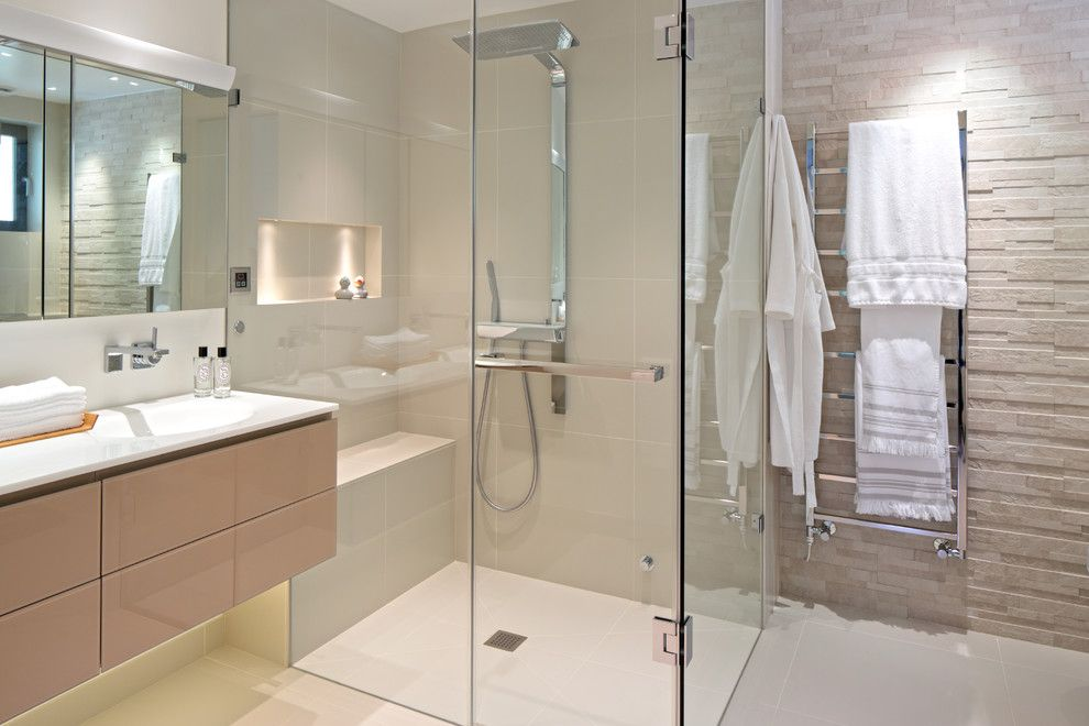 Shower Doors Frameless Bathroom Contemporary With Bathroom Tile Floating Vanity Frameless Shower