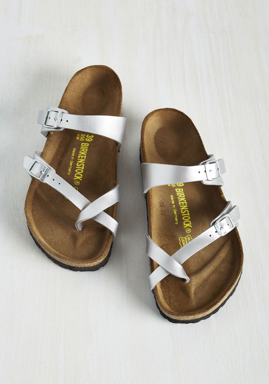 3ddec4abd07 Sense of Wonder Sandal in Silver. Step into these Mayari sandals by  Birkenstock and get swept up in their captivating qualities.  silver   modcloth