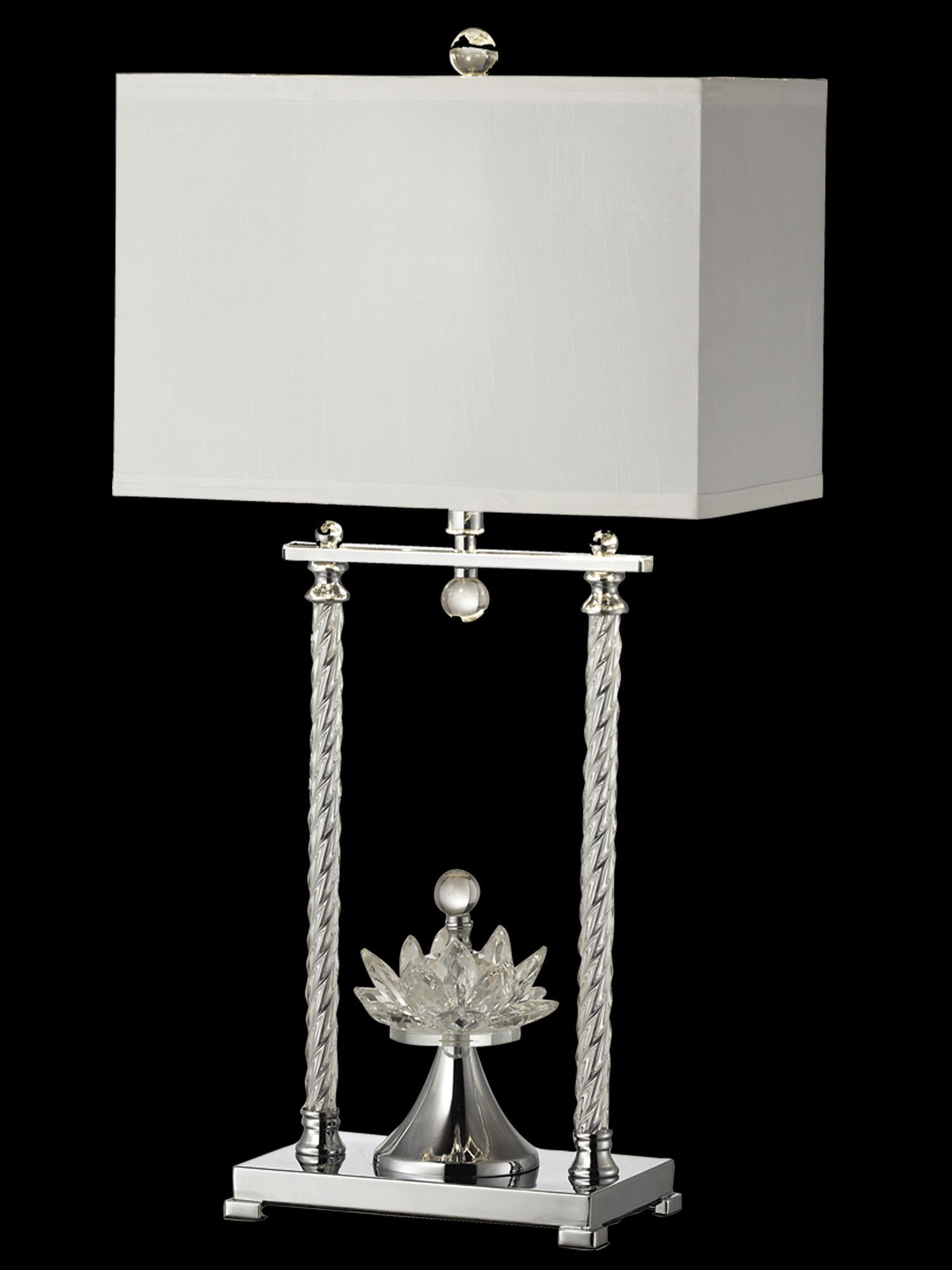 """Charlotte 29"""" H Table Lamp with Rectangular Shade"""