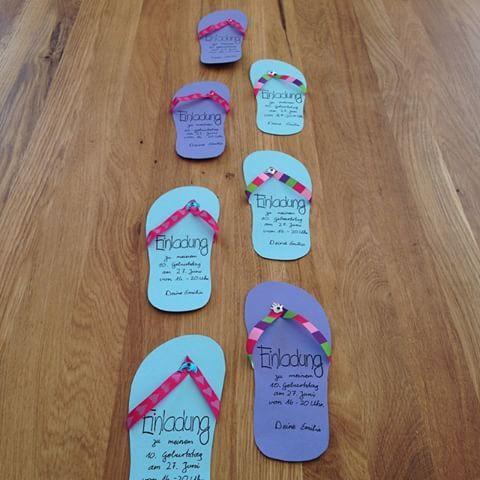 einladungskarten kindergeburtstag nr 1 check flipflop. Black Bedroom Furniture Sets. Home Design Ideas