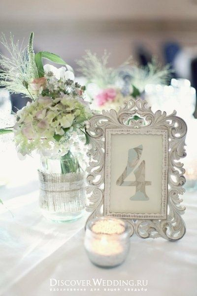 Wedding Table Numbers Antique Picture Frames For