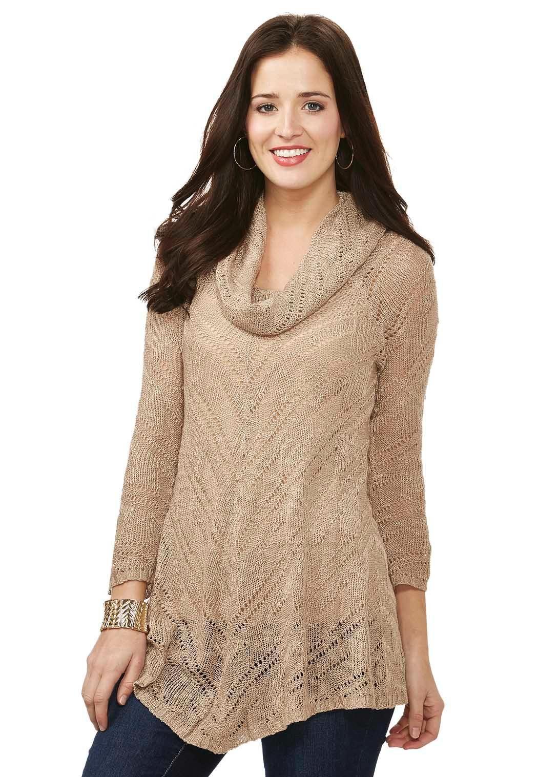 Cowl Neck Swing Sweater Sweaters Cato Fashions   Alyssa's ...