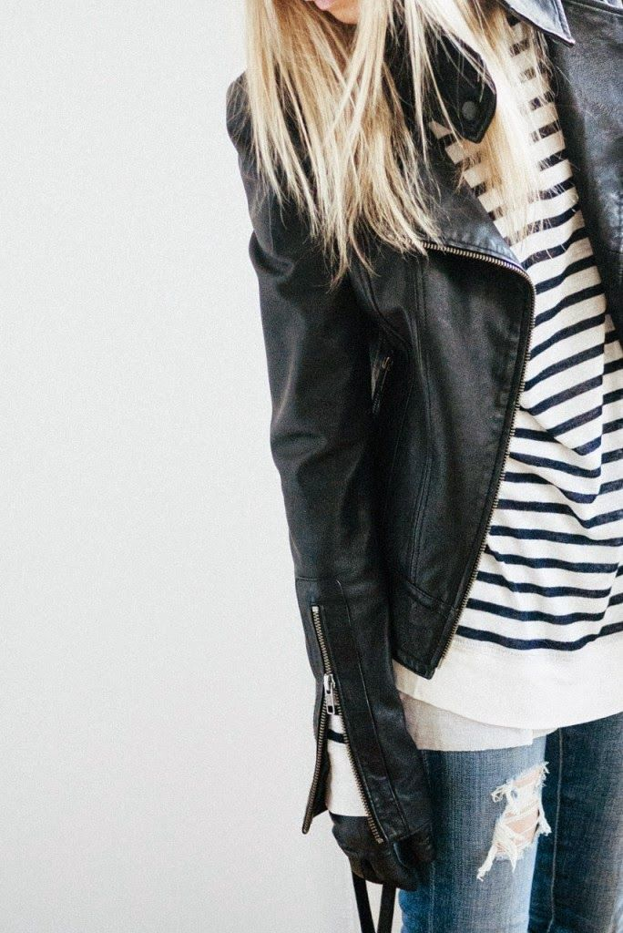 How to Chic: GET THE BLOGGER STYLE - LEATHER JACKET