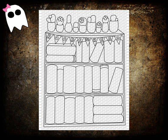 Reading List Tracker - Printable Bookshelf - Books to Read - Books