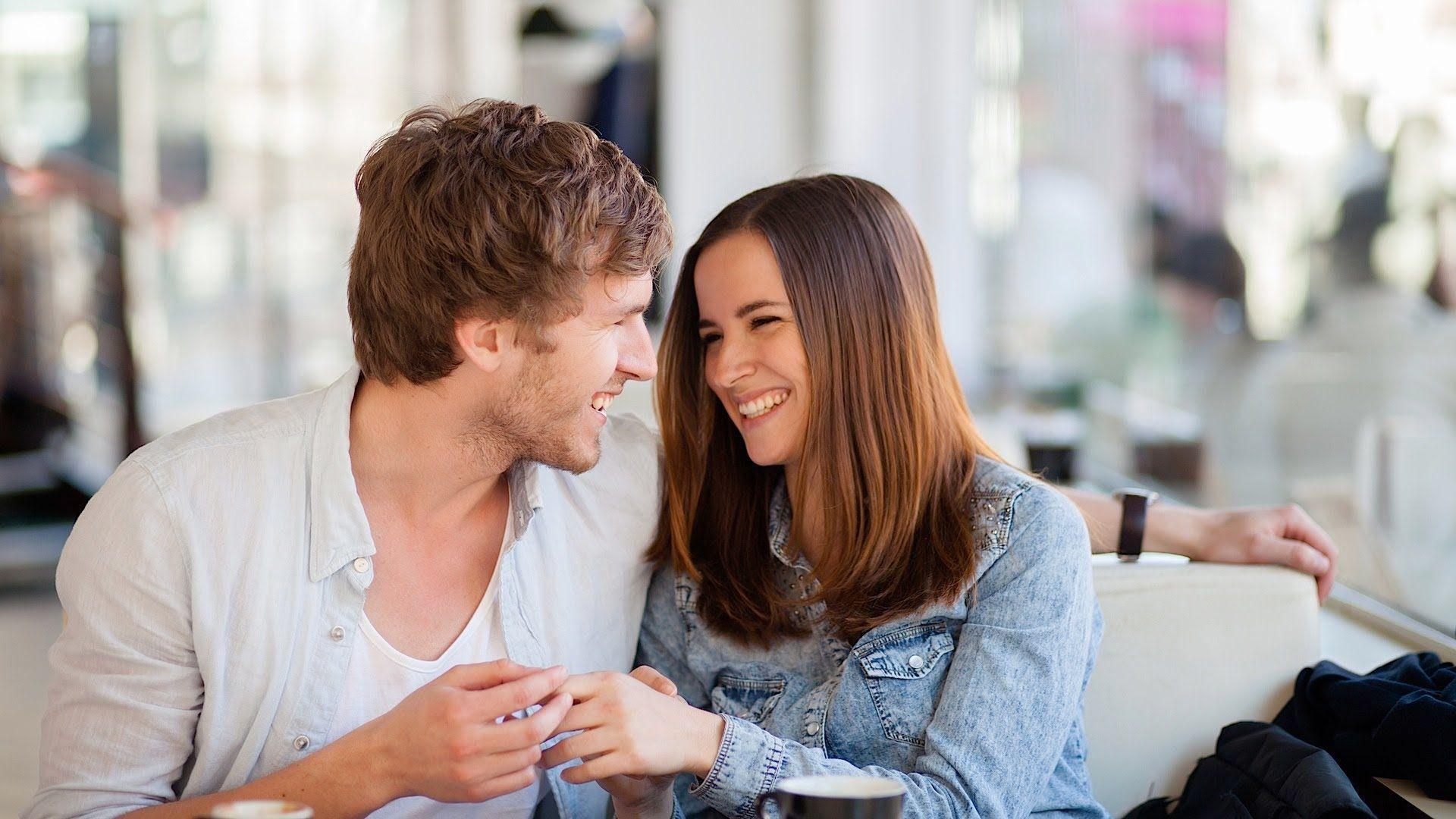Using body language to flirt