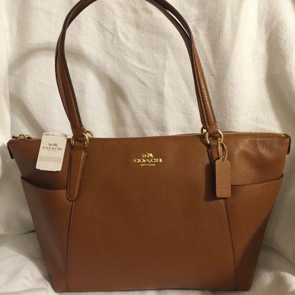Coach Ava Tote Bag Pebble Leather