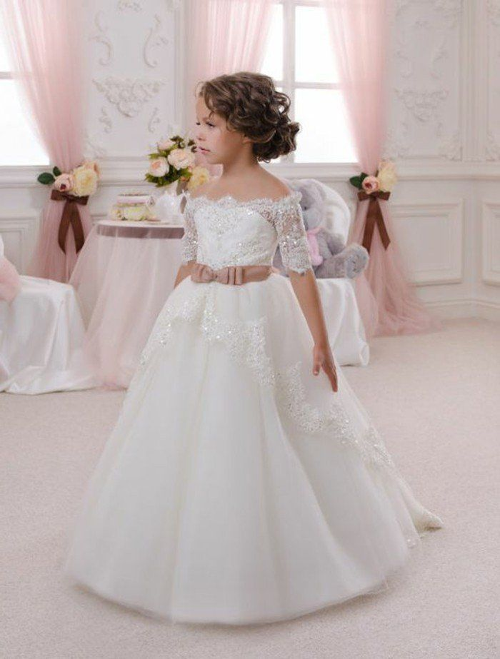 024b7fce97 2016 Flower girl dresses new and beautiful girls clothing. quelle coiffure  petite fille pour mariage princesse