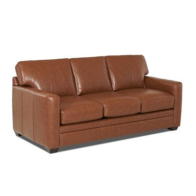 Wayfair Custom Upholstery Carleton Leather Sofa Upholstery Durango Acorn Leather Type Faux Leather Leather Sofa Bed Leather Sleeper Sofa Modern Leather Sofa