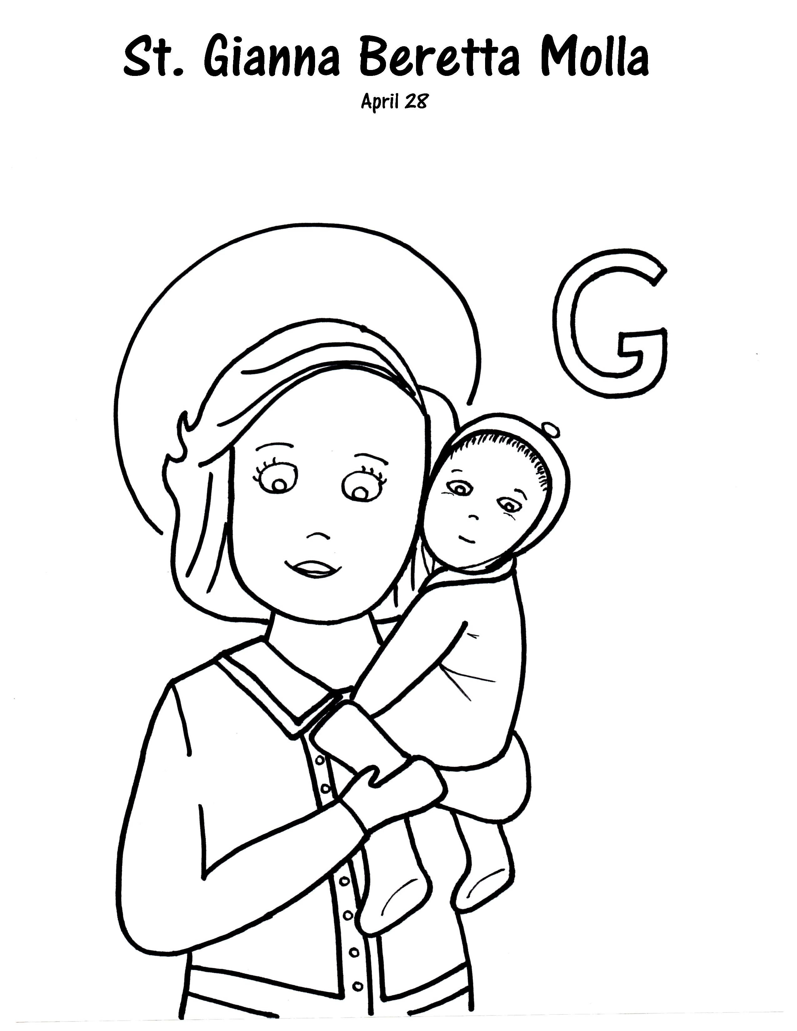 G is for St. Gianna Beretta Molla | Pdf, Filing and Catholic kids
