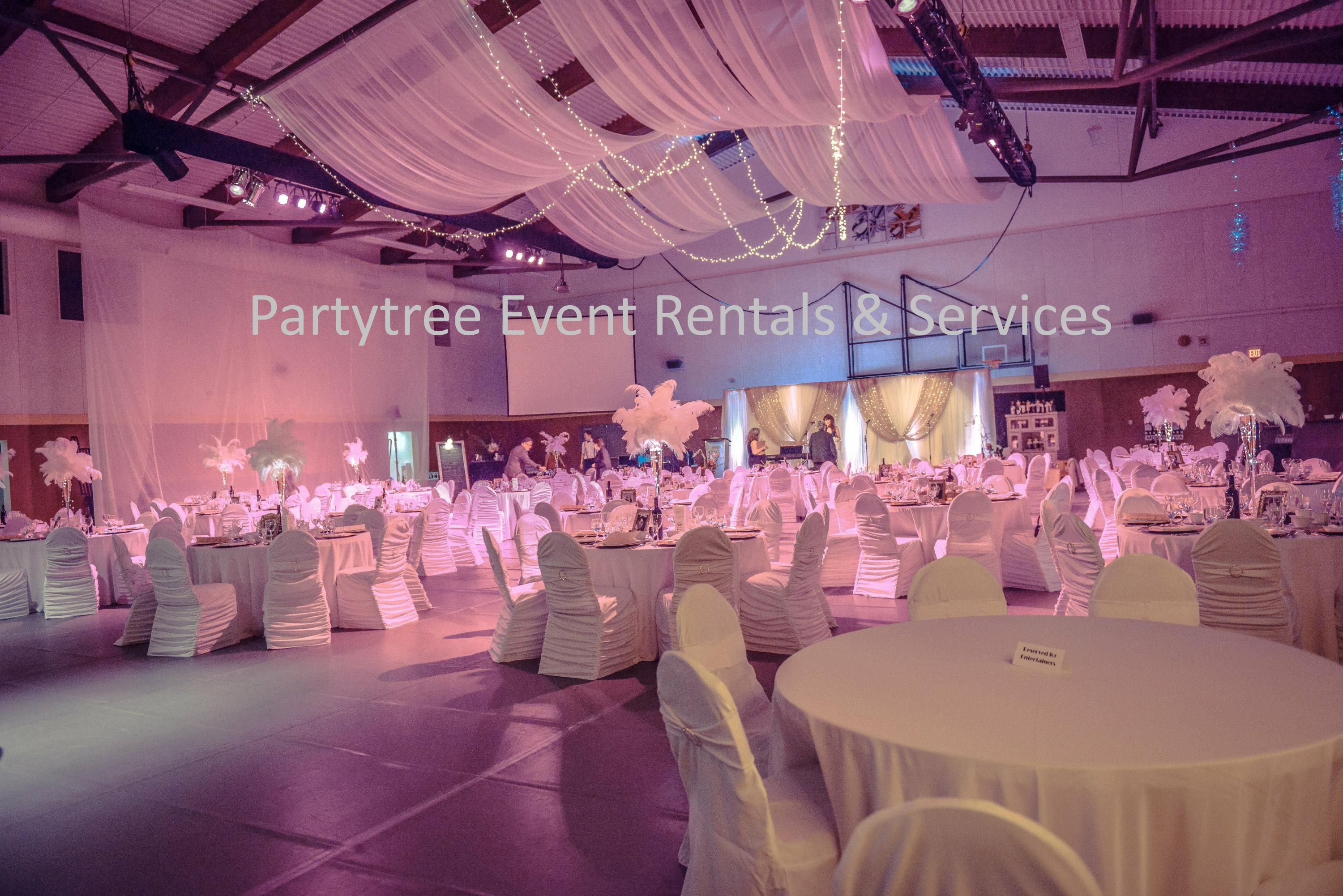 hang fabric party drapes events x ltd lighting sheer valley rentals event for globe ceiling to draping tent and how decor