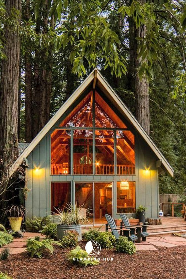 Aframeinterior house in the woods tiny house cabin