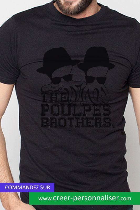 un Poulpe motif The Homme imprimé Shirt avec Brother notre de Tee 4n6Y0x6