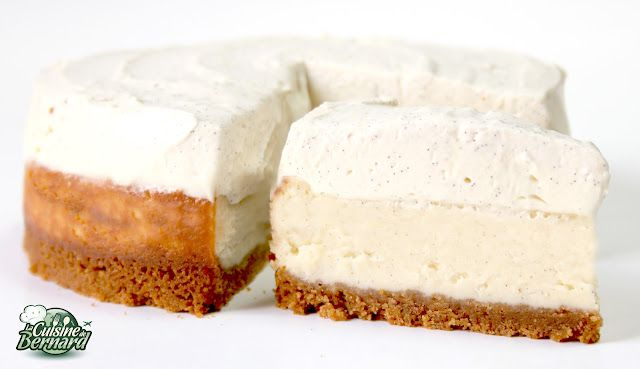 Le Cheesecake Double Vanille - recipe (french) with photos