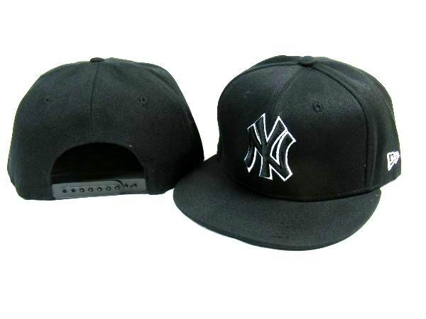 New Era MLB New York Yankees All Black Snapback Hats Caps 3704! Only   7.90USD d10539efc9a