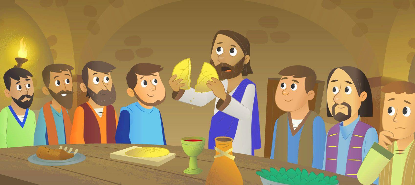 Ilustración de Jesús en la última cena | Dibujos De Jesús ...