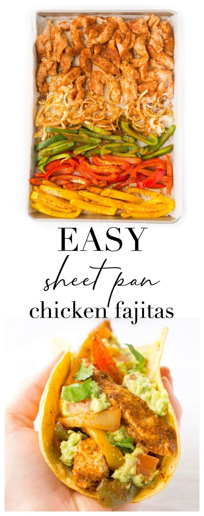 Photo of Healthy Sheet Pan Chicken Fajitas | Haute & Healthy Living