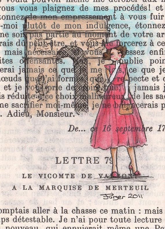 Words Within Art By Karenza Paperie French Art Paris Original