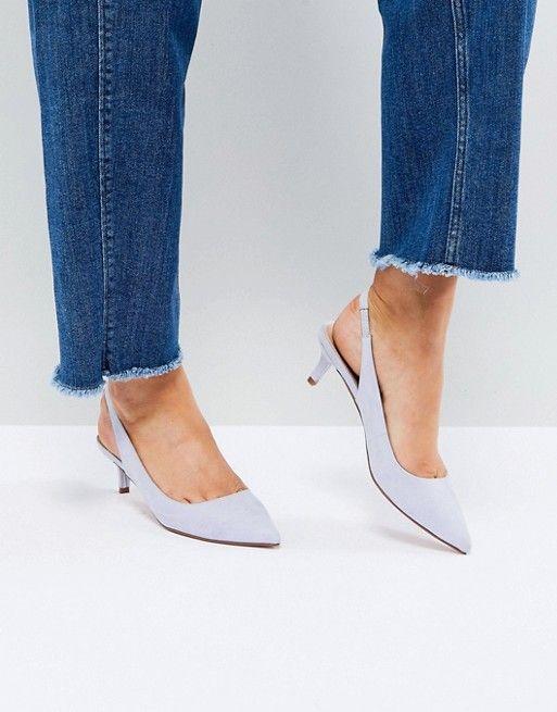 c552516b17 SPIRIT Slingback Kitten Heels   Fashion Obsession   Asos shoes, Kitten heel  shoes, Kitten heel slingbacks