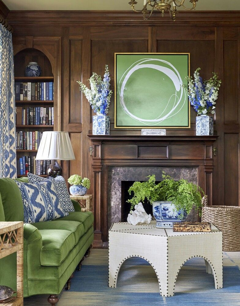 Best Green And Cobalt Blue Vibrancy In 2019 Living Room Green 640 x 480