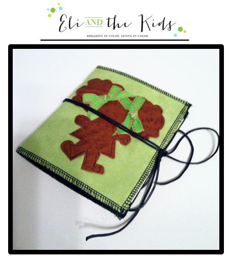 Soft covered Journal/Notebook, bright lime green faux suede outer cover with leather Z-Doll silhouette on front cover with ribbons in her hair. White heavy echo friendly paper on the inside held shut with black leather string. .   Approx. Measurements: 5 x 6 inches in size with 16 pages  Thi...
